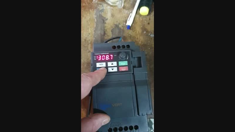 КИПлаб ремонт частотного преобразователя INNOVERT 3,7 кВт220 В-выход три фазы
