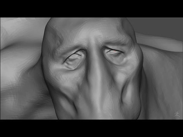 Sculpting a four handed monster