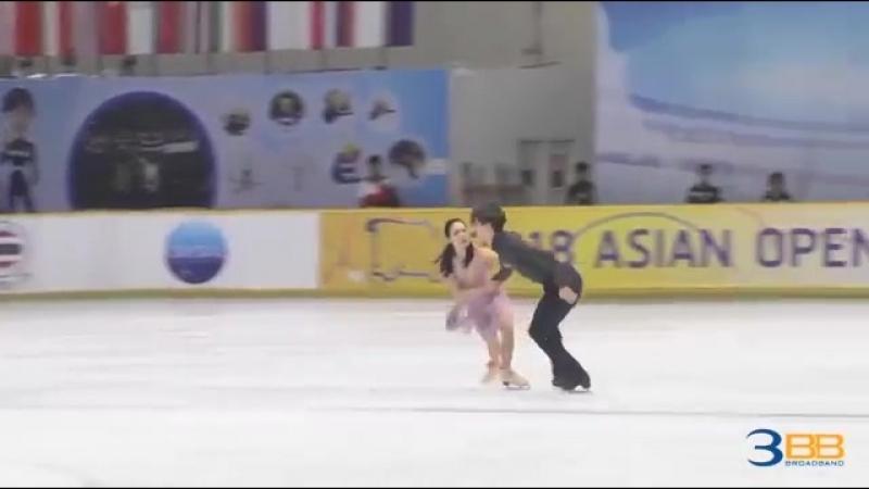 Misato KOMATSUBARA _ Tim KOLETO FD Asian Open Figure Skating Trophy 2018