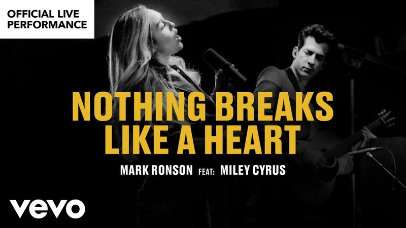 """Mark Ronson ft. Miley Cyrus - """"Nothing Breaks Like a Heart Official Performance 