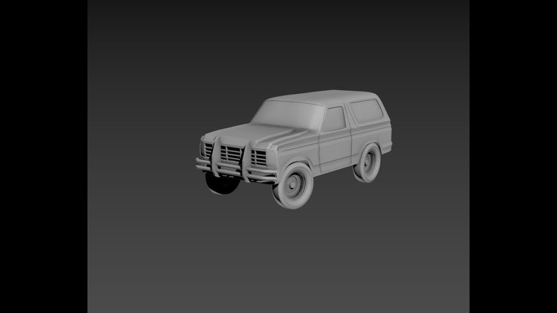 Modeling ford bronco 3ds max tutorial part-2