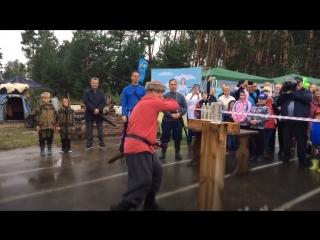 Александр Моор на мастер-классе по рубке шашкой