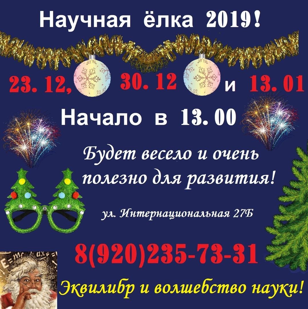 Афиша Тамбов 13/01 Научная ёлка 2019 в Домике 5+