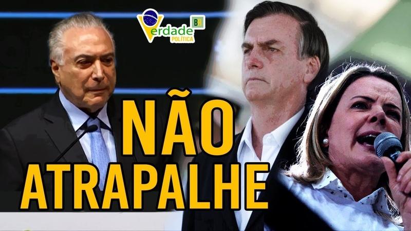 TEMER afirma que OPOSIÇÃO não deve ATRAPALHAR BOLSONARO