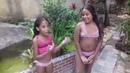 Desafio da piscina e apresentando meu lago com a minha irmã izabella e sua sobrinha Maria clara.