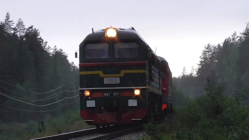 Теплоэлектричка. М62-1631 с электропоездом ЭР2К-930 сообщением Советский - Санкт-Петербург