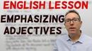 English lesson - Emphasizing adjectives