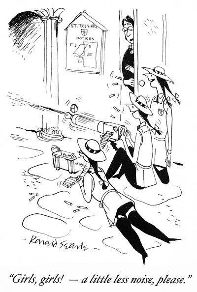 Рональд Сирл - карикатурист, опередивший время. Продолжение В 1941 году талантливый 21 летний английский художник Рональд Сирл ( Ronald Searle) печатает первую серию комиксов про школу для