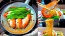 Fast Working Woman makes Casseroled Shrimp King Prawns Glass Noodle