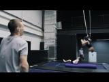Детская секция по акробатике на батутах