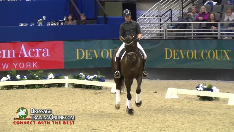 Dressage training with Isabel Werth, young horse, medium level and advanced training