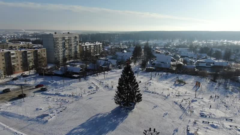 Наш зимний заснеженный город HD1080