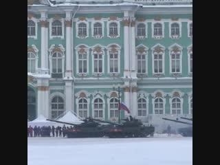 Военный парад в честь 75-й годовщины снятия блокады Ленинград