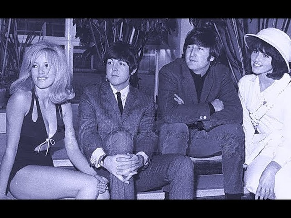 ♫ J. Lennon and P.McCartney*1965 With showgirls before rehearsals for television show