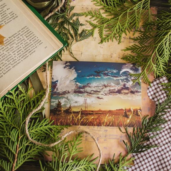 Открытка лесная сказка художник знаменский, написать деду открытке
