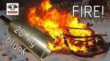 Пожар в гараже и обработка железного полена. Garage is on fire and iron log EN sub