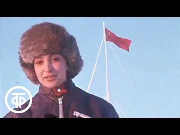 Юбилей дрейфующей станции СП 24 на Северном полюсе Время Эфир 01 04 1979 г