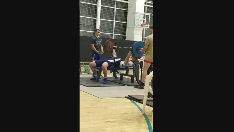 3 попытка (170 кг) на чемпионате Томской области по жиму лежа в категории до 93 кг