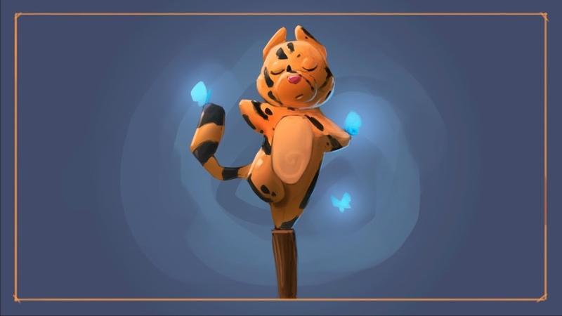 Рисуем котенка-акробата (школа Pixel)