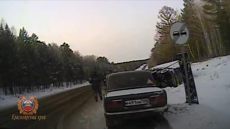 Иланский район, инспекторы ДПС помогли водителю фуры
