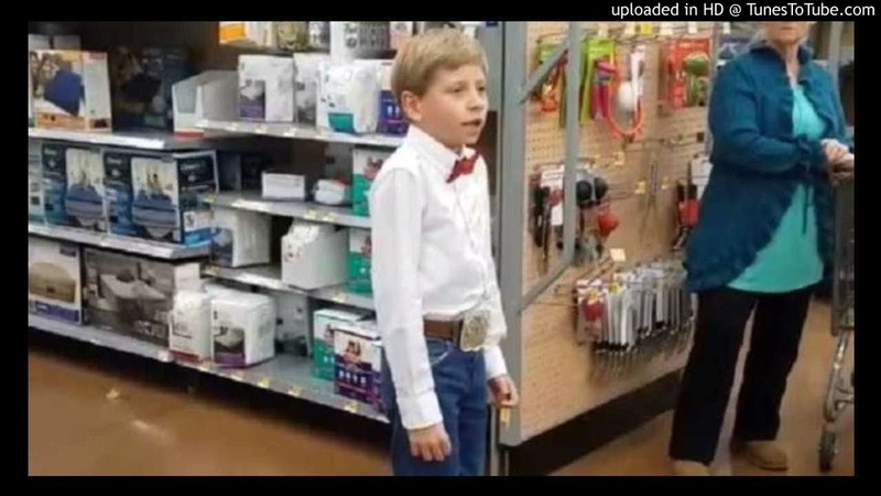 YODELING COUNTRY WALMART KID SINGING (EDM REMIX) BEST ONE YET!! WITH LYRICS !!