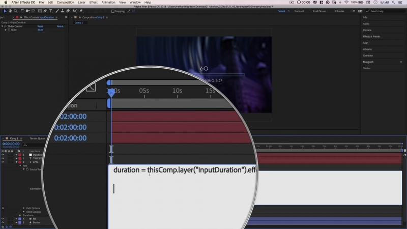 ADVANCED Loader Bar Countdown with Expressions After Effects Tutorial