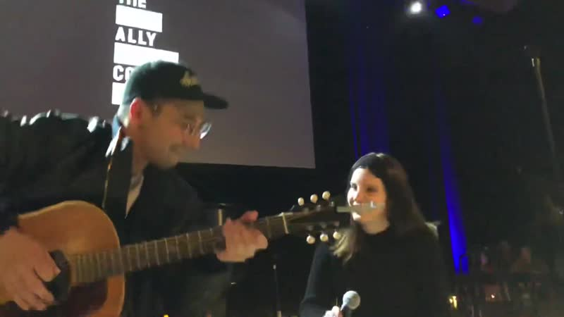 Lana Del Rey and Jack Antonoff (5th Annual Ally Coalition Talent Show)