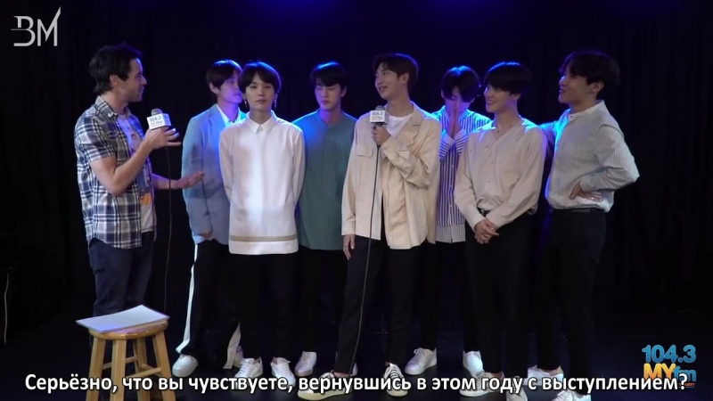 RUS SUB 19.05.18 BTS Talks Performing At The BBMA s New Single Fake Love Sing American Pop Hits! @ 104.3 MYfm