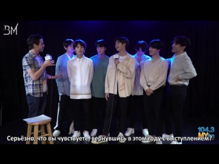 [RUS SUB][19.05.18] BTS Talks Performing At The BBMA's, New Single 'Fake Love' + Sing American Pop Hits! @ 104.3 MYfm