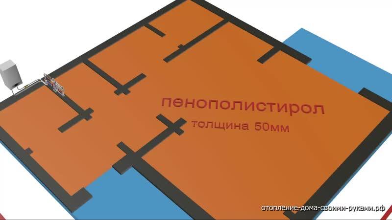Схема отопления двухэтажного дома теплый пол коллекторное отопление