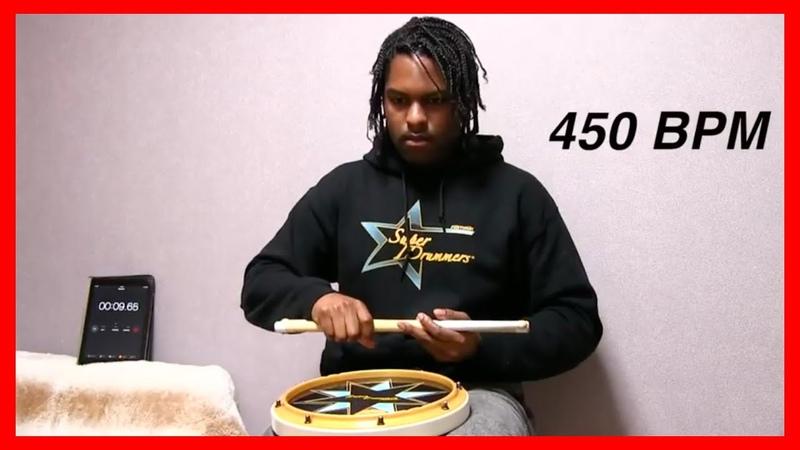 450 BPM Double Stroke Roll