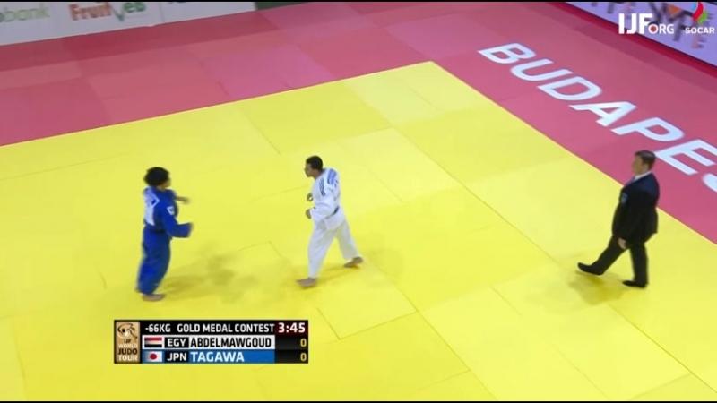 Judo Grand Prix Budapest 2018 Final 66 kg TAGAWA Kenzo JPN ABDELMAWGOUD Mohamed EGY
