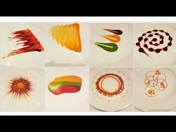 Types of Colorful Plating techniques | Part 1| Art on the plate| By MONIKA TALWAR
