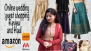 Online Shopping Haul for Wedding Guest Outfits | Review of Indian clothes ,Amazon,Myntra and Jabong