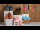 Alize Puffy ile Ev Ayakkabısı - Making Home Shoes with Alize Puffy