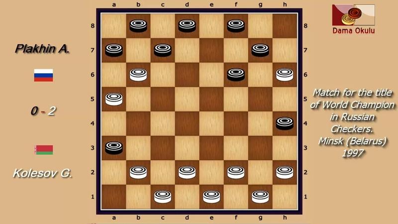 Kolesov G. (RUS) - Plakhin A. (BLR). WK-match. Russian Checkers_Men- 1997.