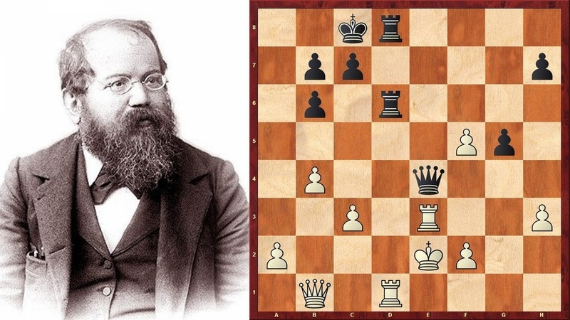 Шахматы. Вильгельм Стейниц. КОМБИНАЦИОННЫЙ УДАР, решивший исход поединка