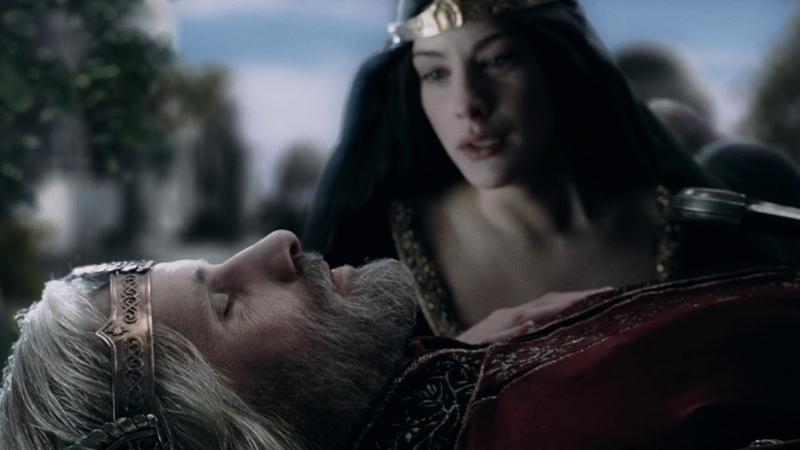 Владыка Элронд настаивает на том, что Арвен должа покинуть Средиземье. HD