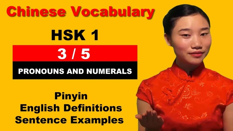 Learn Chinese HSK 1 Vocabulary with Pinyin English Sentence Examples - Pronouns Numerals (3/5)