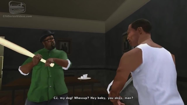 GTA San Andreas Remastered - Intro Mission 1 - Big Smoke, Sweet Kendl (Xbox 360 / PS3)
