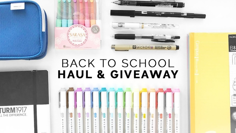 Back to School Haul Giveaway (Re-Upload)