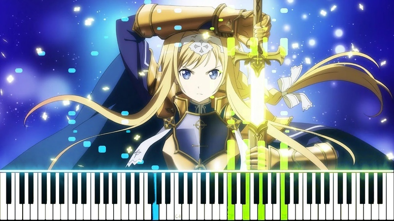 Sword Art Online Alicization OP 2 RESISTER ASCA Synthesia Piano Tutorial