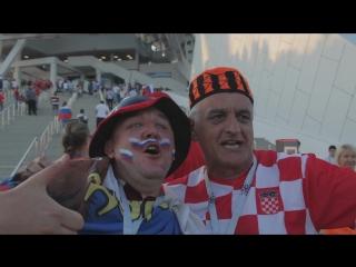 Атмосфера перед матчем Россия - Хорватия