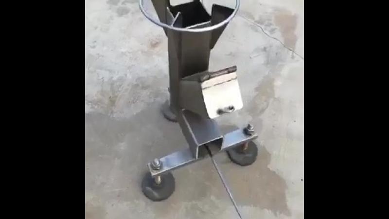 Самодельная переносная печь. Как вам идея? - vk.com/cottagers