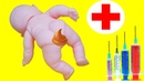 Барби Видео с куклами Видео с игрушками для девочек Пупсик обкакалися