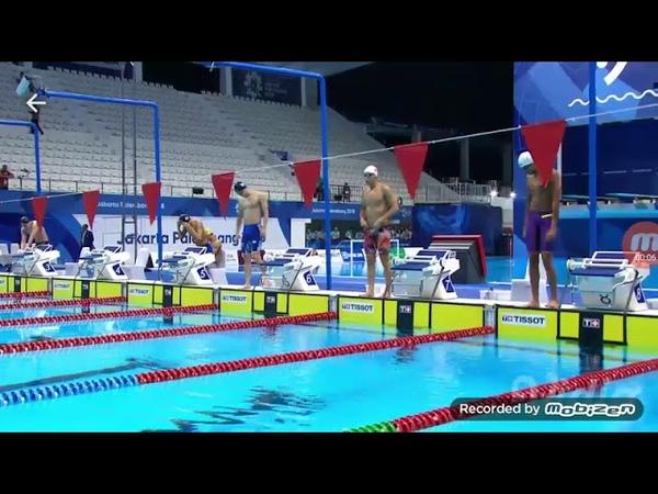 Men's 100m backstroke final swimming Asian Games 2018 Jakarta-Palembang