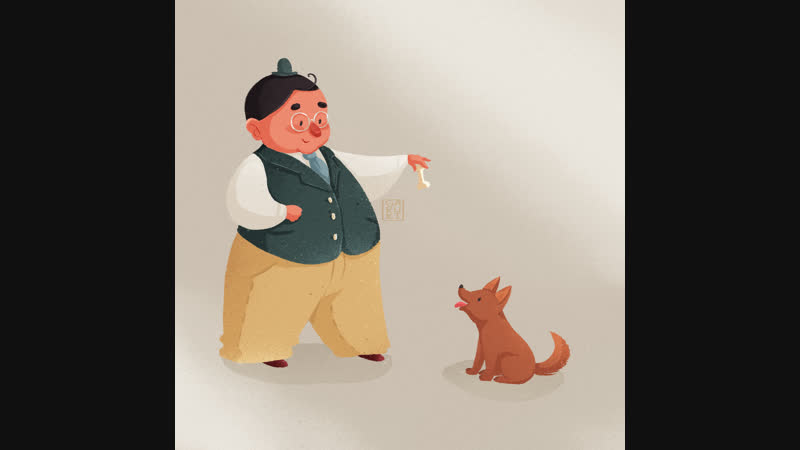 Дядечка с собачкой