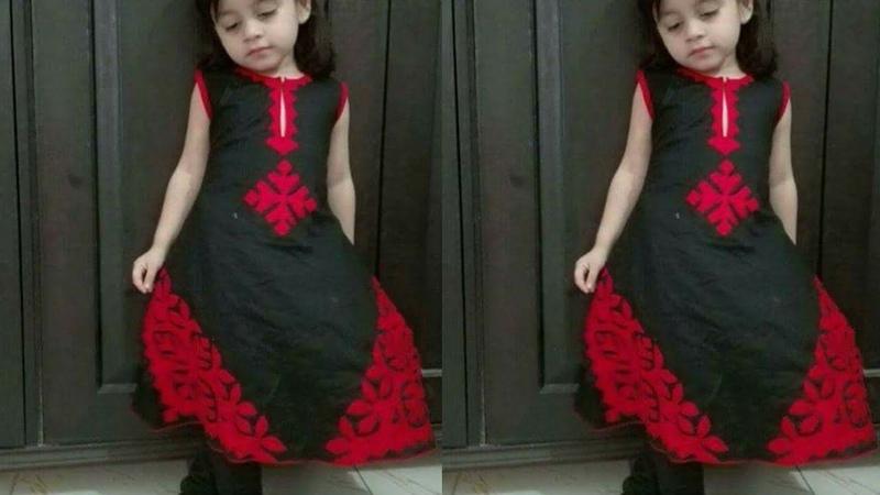 Little Girls Aplic Work Dress Designs||Best Aplic work Designs for baby girls