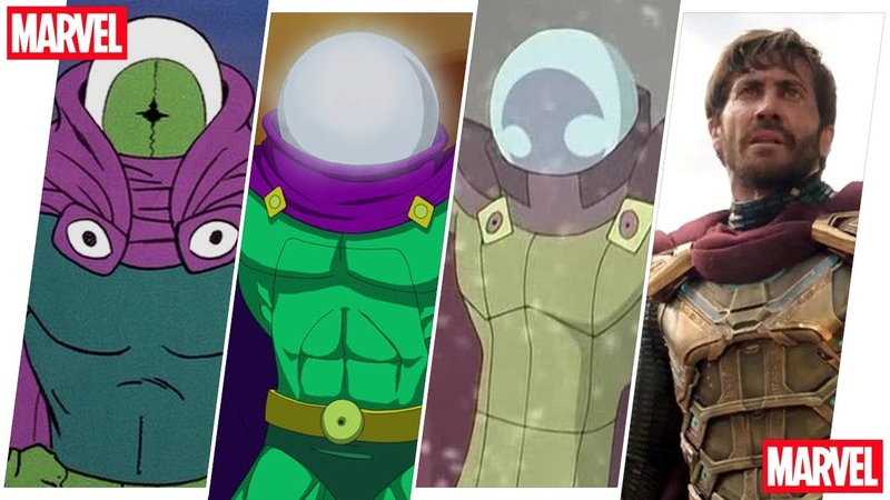 Mysterio Evolution in Movies Cartoons (Spider-Man Far from Home Included - 2019)
