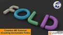 Creating animatable Folds (Cinema 4D Tutorial)
